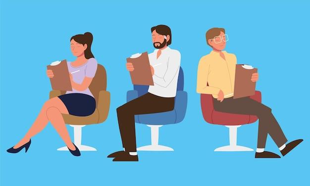 Personaggi psicologi con lavoro negli appunti