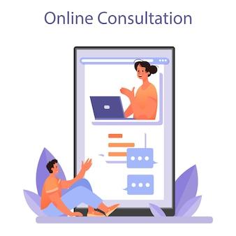 Servizio o piattaforma online di psicologo