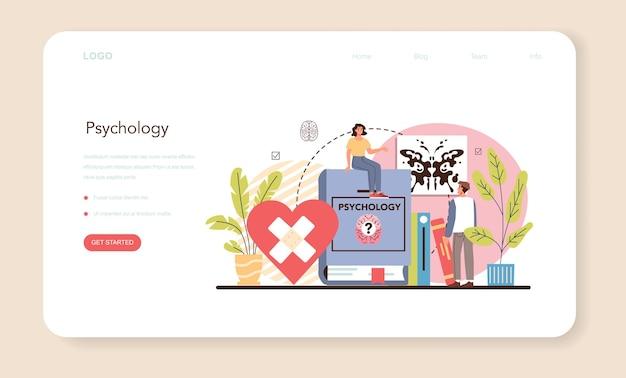 Banner web psicologo o pagina di destinazione. diagnostica della salute mentale.