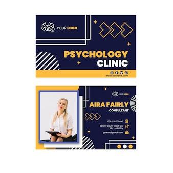 Biglietto da visita orizzontale di psicologia
