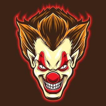 Psyco clown vector