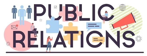 Intestazione tipografica di pubbliche relazioni
