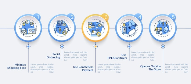 Illustrazione del modello di infografica di pubblica sicurezza