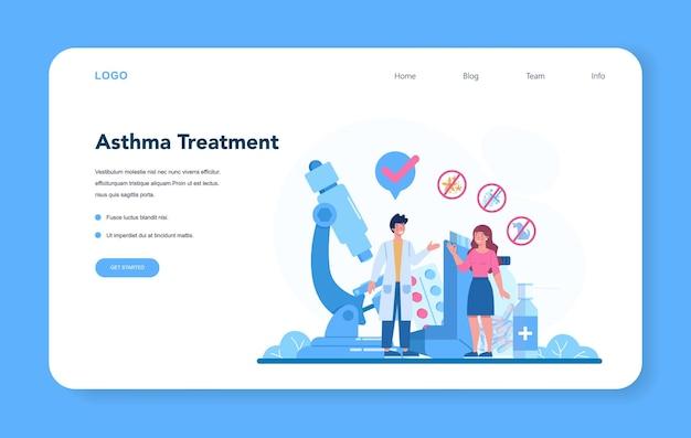 Banner web o pagina di destinazione del pneumologo.
