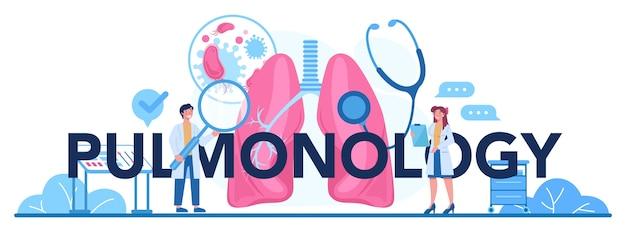 Intestazione tipografica di pneumologia