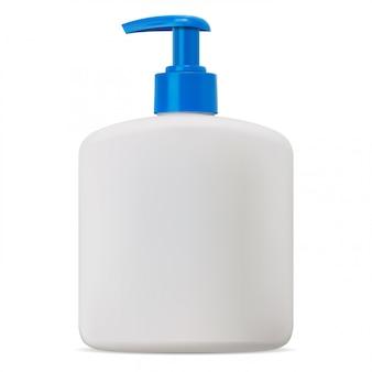 Pompa a bottiglia. pacchetto di sapone cosmetico in bianco mockup