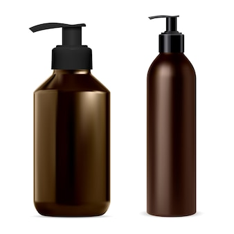 Bottiglia dell'erogatore della pompa per l'illustrazione del contenitore cosmetico
