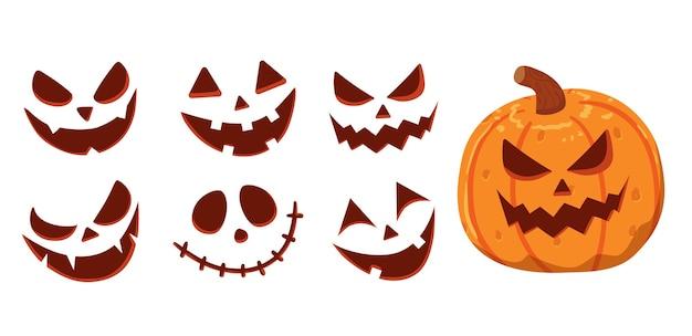 Illustrazione di halloween faccia zucca