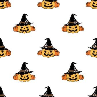 Modello senza cuciture di zucca di halloween