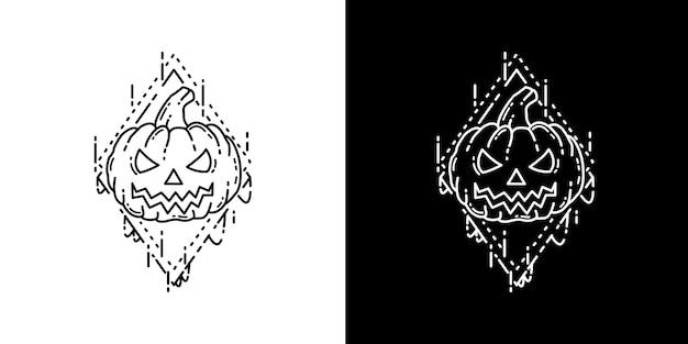 Zucca halloween tattoo monoline