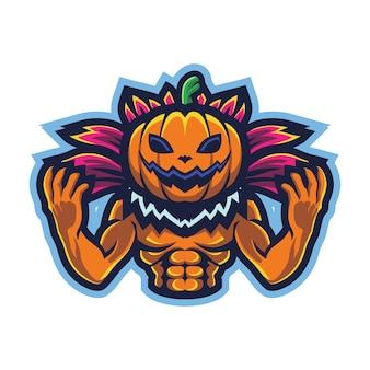 Logo pumpkin monster esport