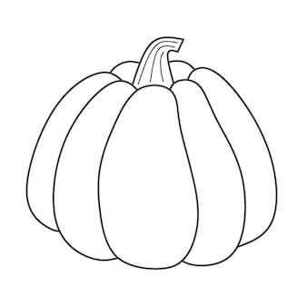 Contorno di doodle di contorno di zucca illustrazione vettoriale