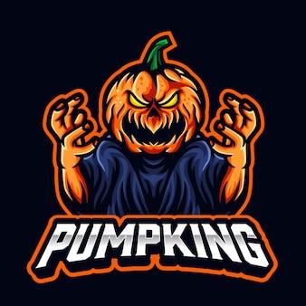 Logo di esport spaventoso di zucca per sport e squadra di esport