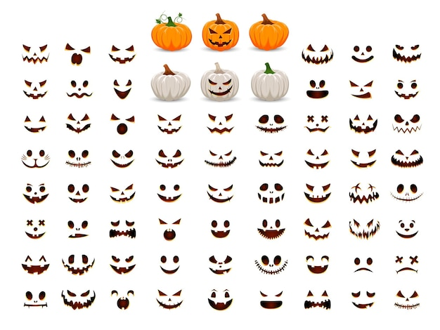 Zucca con il sorriso per il tuo design per le vacanze di halloween colleziona la tua zucca