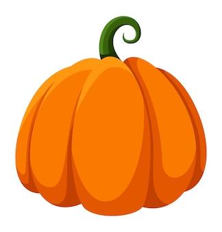 Frutta di zucca. simboli di halloween del fumetto di ringraziamento all'aperto isolati su sfondo bianco