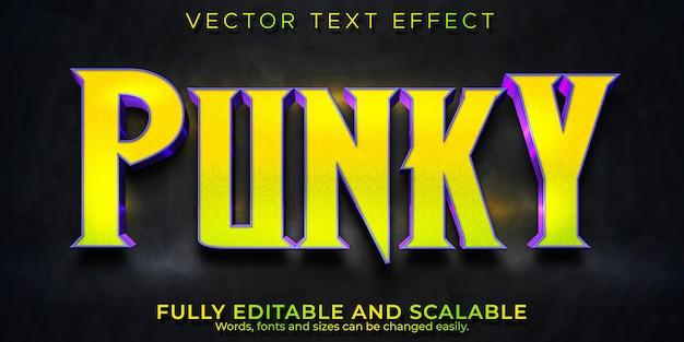 Effetto di testo punk, stile di testo modificabile retrò e party