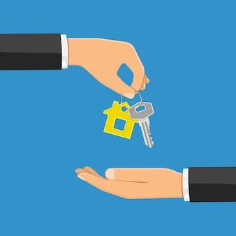 Acquisto o affitto concetto immobiliare