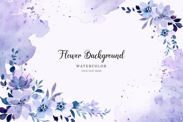 Sfondo floreale astratto viola con acquerello Vettore Premium