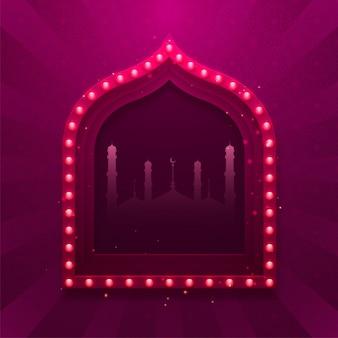 Sfondo viola con la moschea