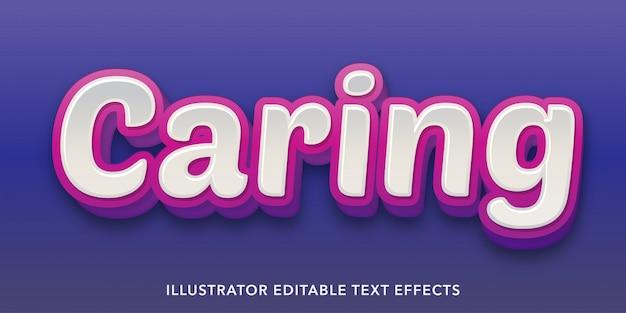 Modelli di effetti di testo modificabili in stile blu viola
