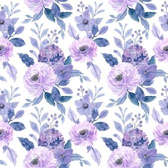 Reticolo senza giunte dell'acquerello floreale viola