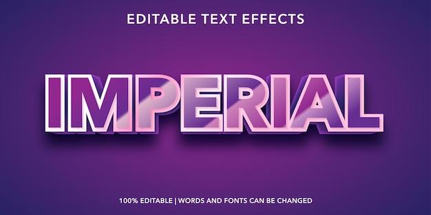 Effetto testo modificabile imperiale viola