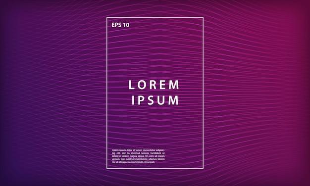 Sfondo sfumato geometrico della linea minima viola