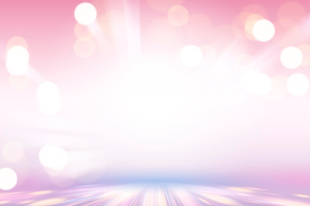 Sfondo bokeh rosa viola, design carta da parati incandescente e luccicante nell'illustrazione 3d