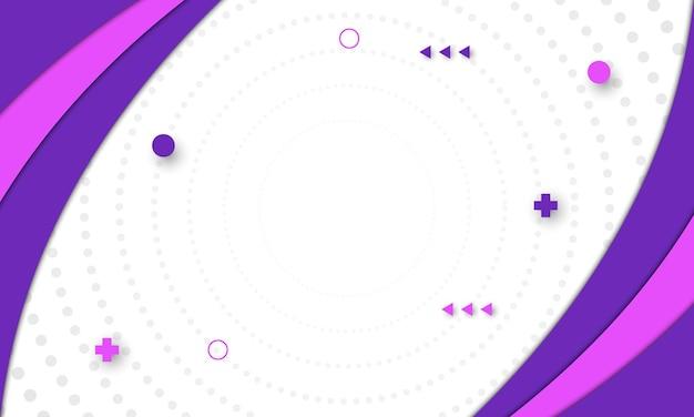 Sfondo di forme curve viola e rosa.