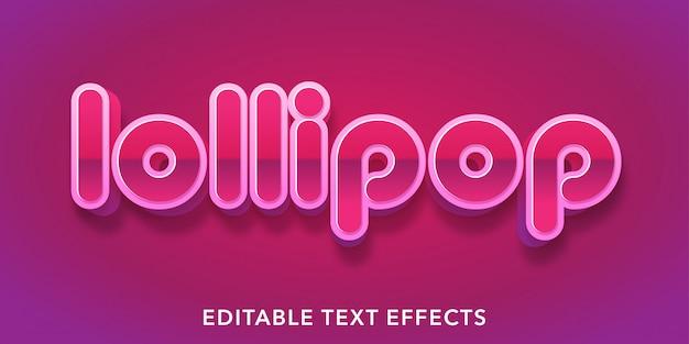 Effetti di testo modificabili lecca-lecca rosa viola