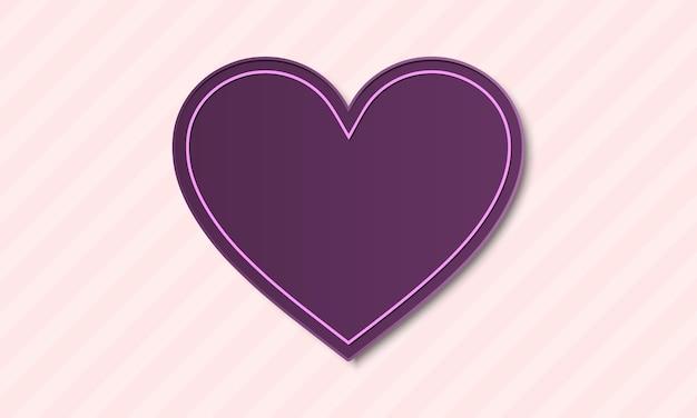 Sfondo di san valentino viola e rosa. design per il tuo banner.