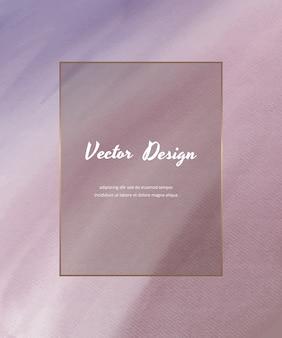 Sfondo di pennellata acquerello viola.
