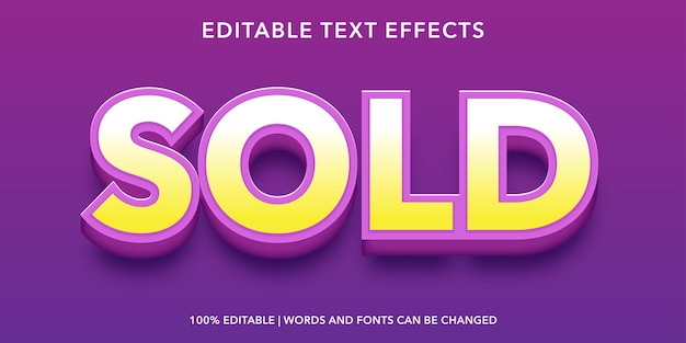 Effetto di testo modificabile giallo viola