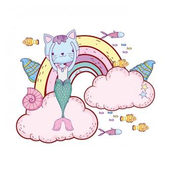 Faraone con nuvole e arcobaleno sottomarino
