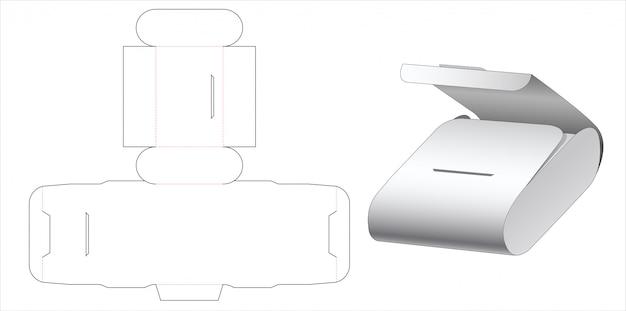 Modello fustellato scatola confezione imballo