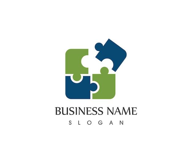 Design di icone di icone di affari di puzzle