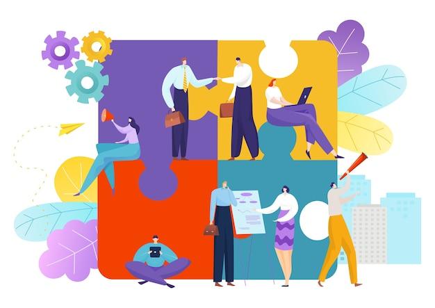 Puzzle di lavoro di squadra aziendale