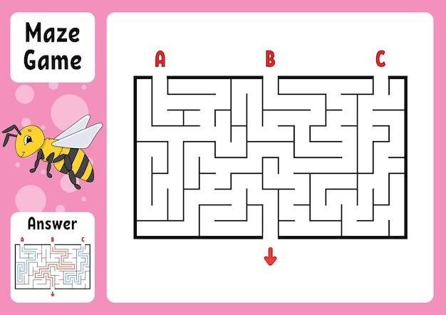 Puzzle per bambini. enigma del labirinto.