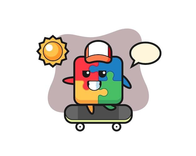 Puzzle, design in stile carino per maglietta, adesivo, elemento logo