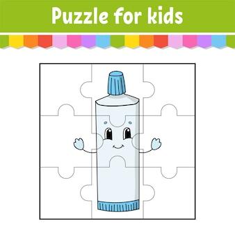 Gioco di puzzle per bambini. pezzi di puzzle.