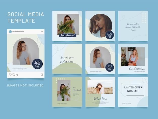 Puzzle social media fashion post modello