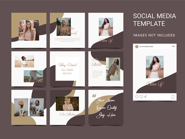 Puzzle stile moderno modello social media