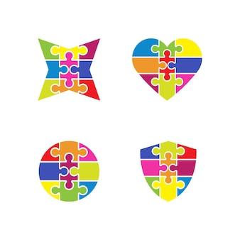Modello di progettazione di illustrazione vettoriale di puzzle