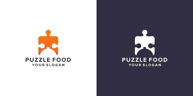 Puzzle con modello logo cibo