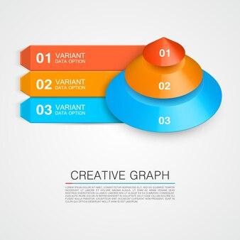 Icona della piramide per il grafico creativo aziendale. illustrazione vettoriale