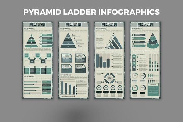 Modello di progettazione infografica scala piramidale