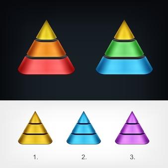 Modello di logo piramide, logo aziendale stilizzato