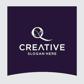 Design del logo dell'uva q