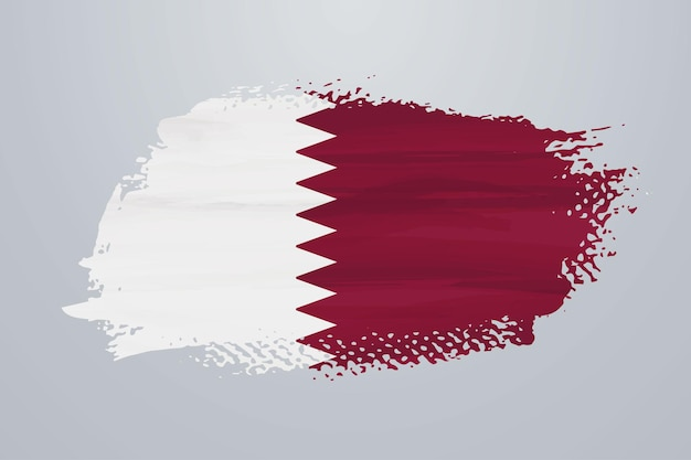 Bandiera del qatar con vernice a pennello