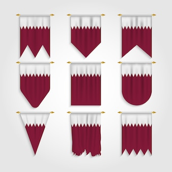 Bandiera del qatar in diverse forme, bandiera del qatar in varie forme
